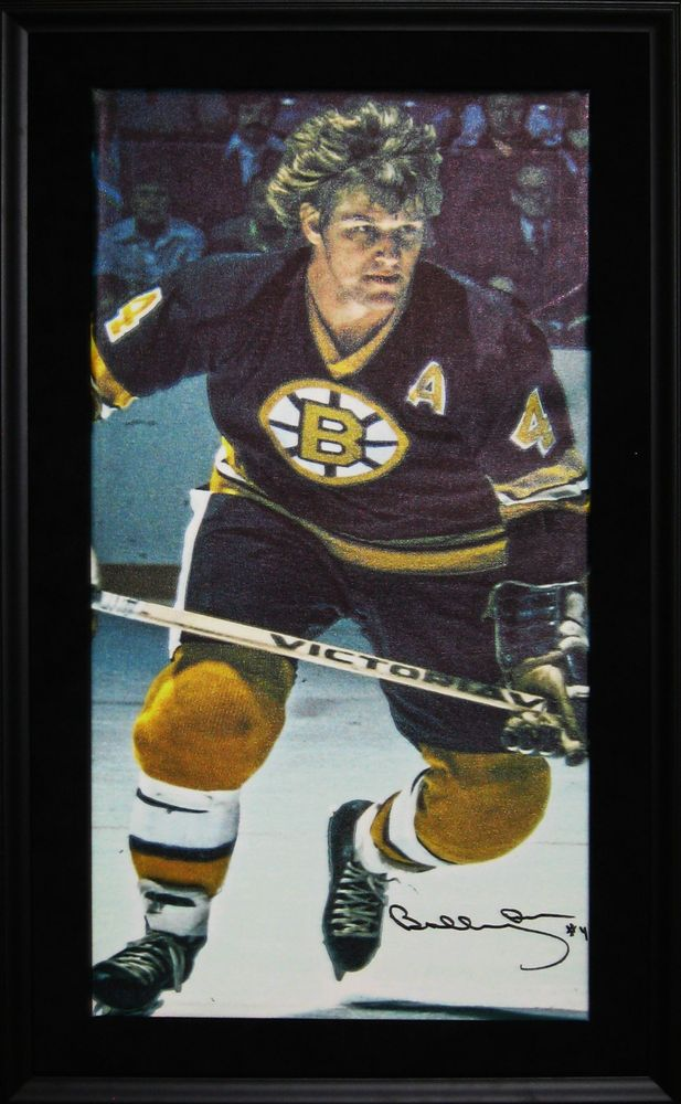 Bobby Orr - Signed & Framed 14x28 Canvas - Boston Bruins Black Skating - Limited Edition of 144