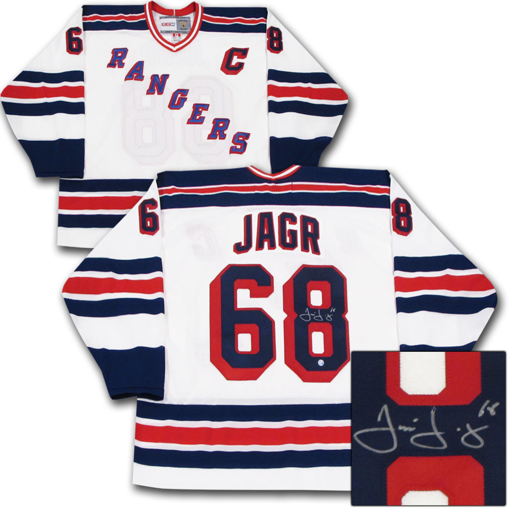 wholesale dealer 5ab0f 6f9ef Jaromir Jagr Autographed New York Rangers Jersey - NHL Auctions
