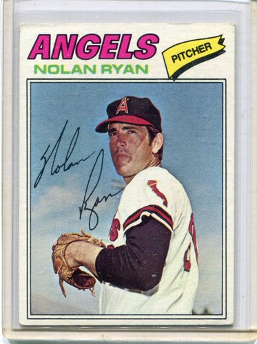 Photo of 1977 Topps #650 Nolan Ryan -- Hall of Famer