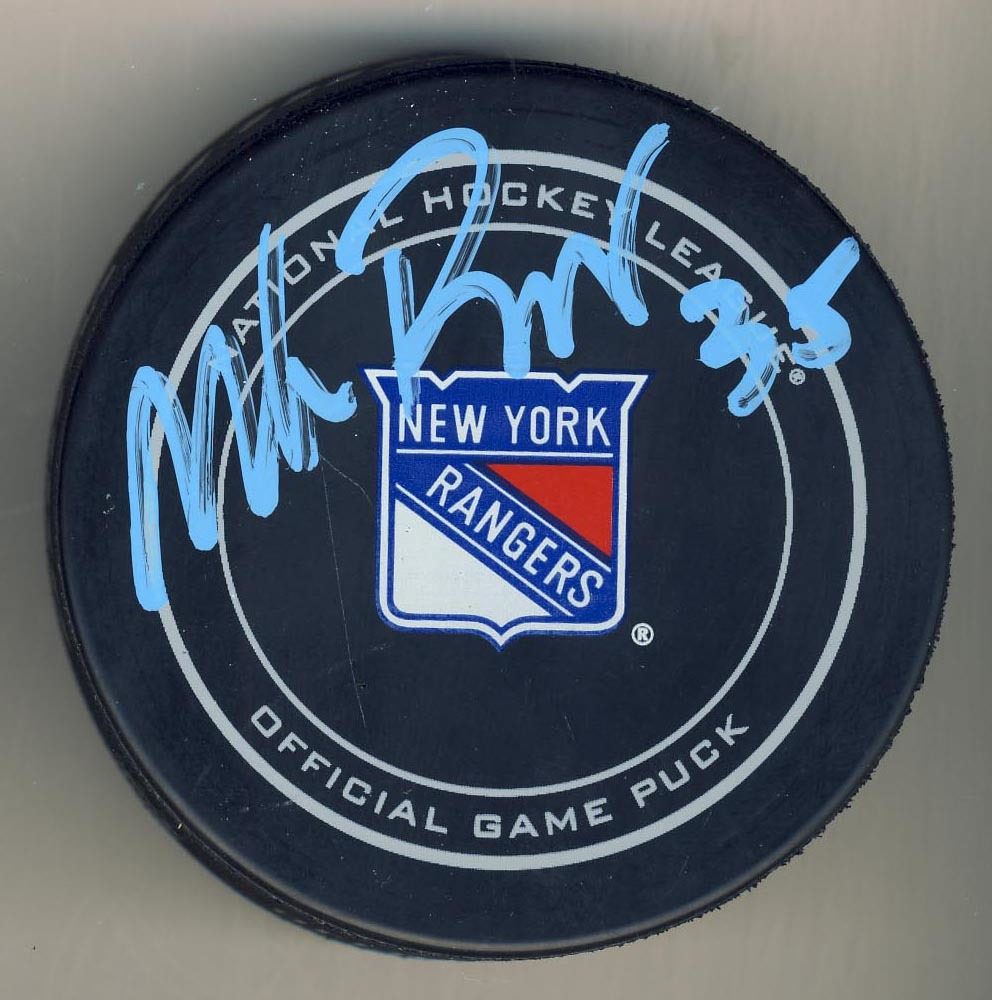 Mike Richter New York Rangers Autographed Official Game Puck *Autograph Slightly Streaky*