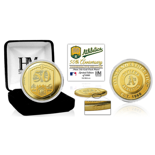 Photo of Oakland Athletics 50th Anniversary Gold Coin