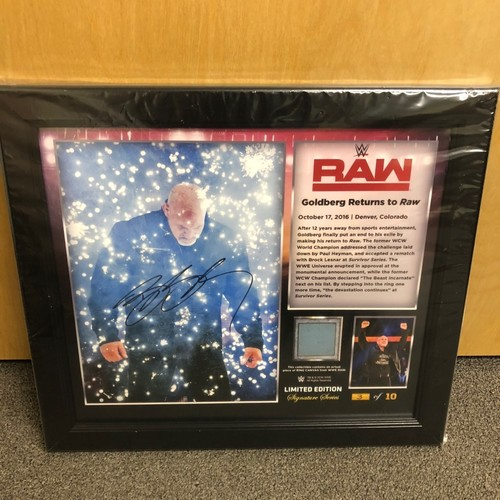 Photo of Goldberg SIGNED RAW Signature Series Ring Canvas Plaque (#3 of 10)