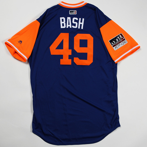 """Photo of Tyler """"Bash"""" Bashlor New York Mets Game-Used Jersey 2018 Players' Weekend Jersey"""