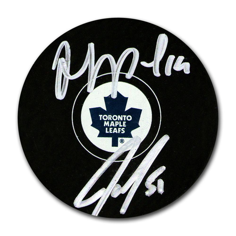 Joffrey Lupul & Jake Gardiner Autographed Toronto Maple Leafs Puck