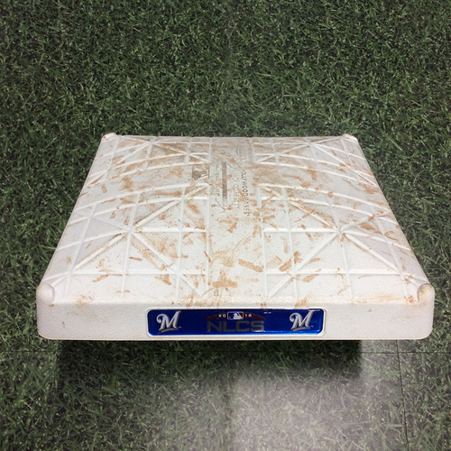 Photo of Game-Used 2nd Base LAD@MIL NLCS Game 2 (10/13/18) - Innings 4-6 - Arcia & Shaw Solo HRs