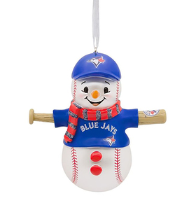 Toronto Blue Jays Snowman Ornament by Hallmark