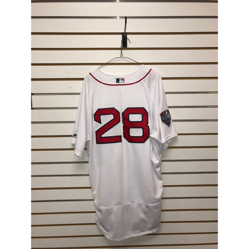 Photo of JD Martinez Game-Used October 23, 2018 World Series Game 1 Home Jersey