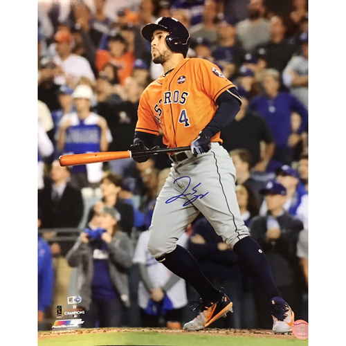 Photo of George Springer Autographed 16x20 Photo - WS HR