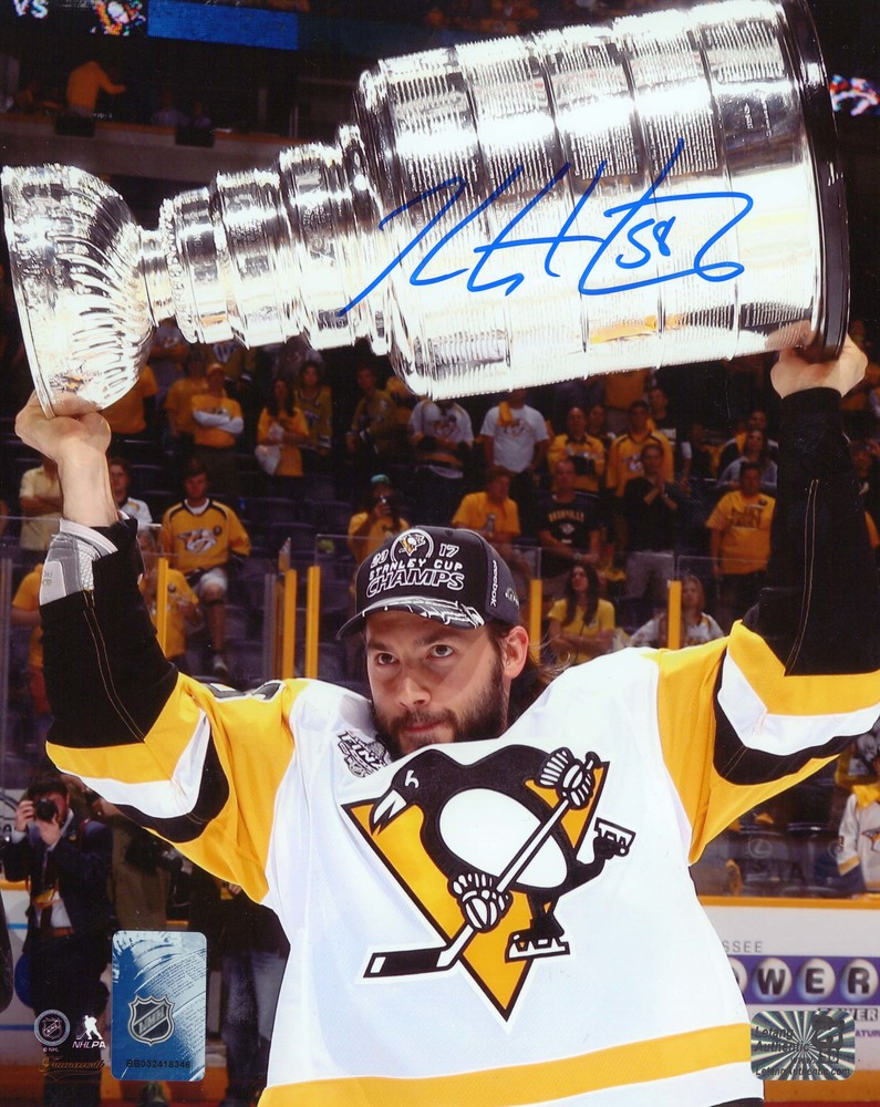 Kris Letang Signed 8x10 Unframed Penguins Cup