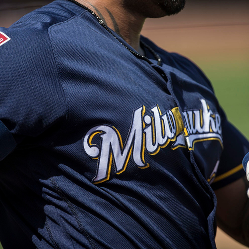 Photo of Christian Yelich 2019 Team-Issued or Game-Used Spring Training Jersey (PRE-SALE)