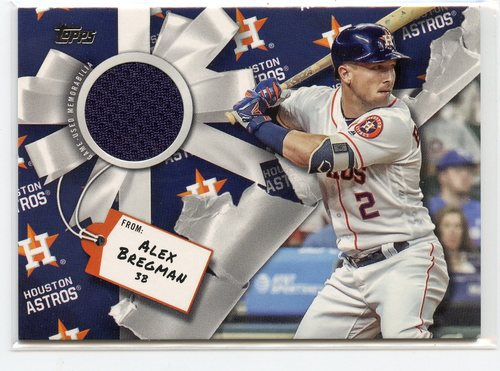 Photo of 2019 Topps Walmart Holiday Relics #WHRABR Alex Bregman