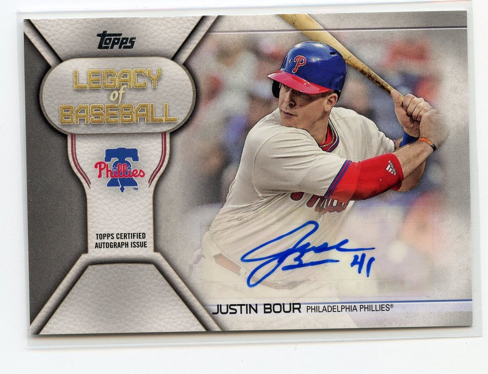 2019 Topps Legacy of Baseball Autographs #LBAJBO Justin Bour