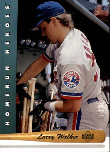 Photo of 1993 Upper Deck Home Run Heroes #HR16 Larry Walker