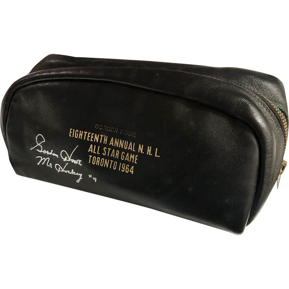 Gordie Howe Personalized & Autographed 1964 NHL All-Star Game Toiletry Bag