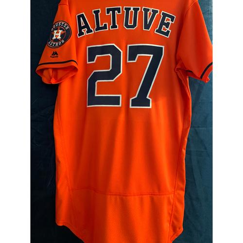 2019 Game-Used Jose Altuve Orange Alt Jersey (Size 40)