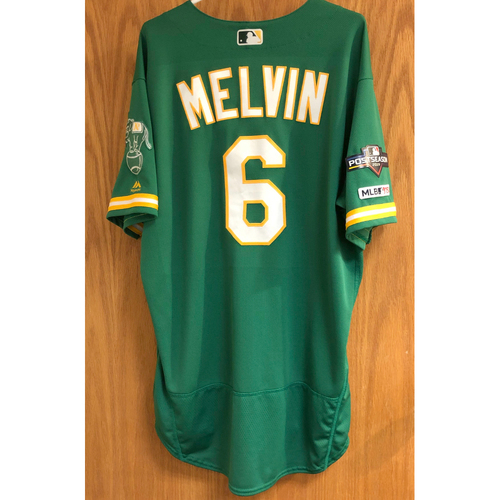 Photo of Team Issued Bob Melvin Jersey w/ 2019 Postseason Patch