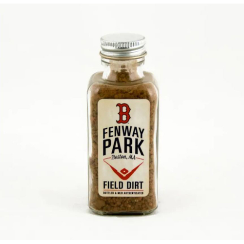 Photo of Boston Red Sox Fenway Park Game-Used Dirt Bottle