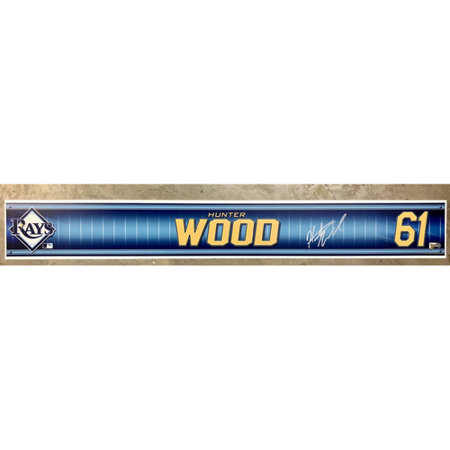Photo of Rays Baseball Foundation: Team Issued Autographed Locker Tag - Hunter Wood