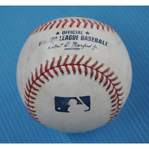 Photo of Game-Used Baseball - 2020 NLCS - Atlanta Braves vs. Los Angeles Dodgers - Game 6 - Pitcher: Max Fried, Batters: Corey Seager (Groundout to 1B), Justin Turner (Foul) - Bot 7
