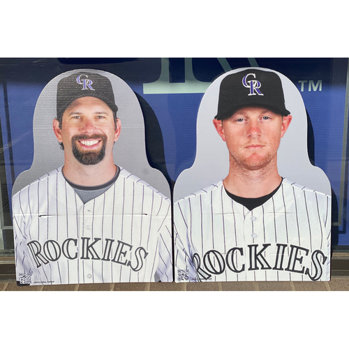 Photo of Colorado Rockies Foundation: NL Gold Glove Set- Todd Helton and DJ LeMahieu