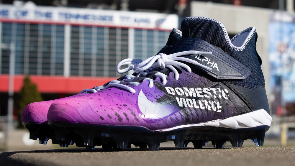 My Cause My Cleats -Titans Brandon Kemp Custom Cleats - supporting Boys and girls club