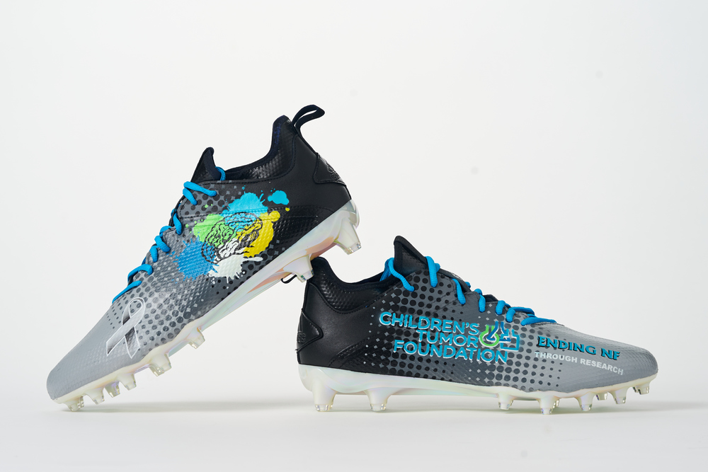 My Cause My Cleats - Seahawks David Moore custom cleats - supporting NF1
