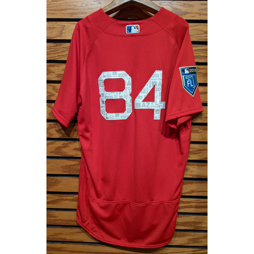 Photo of 2018 Spring Training Red #84 Team Issued Jersey