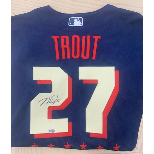 Photo of Mike Trout 2021 Major League Baseball All-Star Game Autographed Jersey