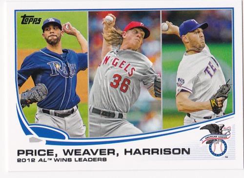 Photo of 2013 Topps #95 Matt Harrison/David Price/Jered Weaver