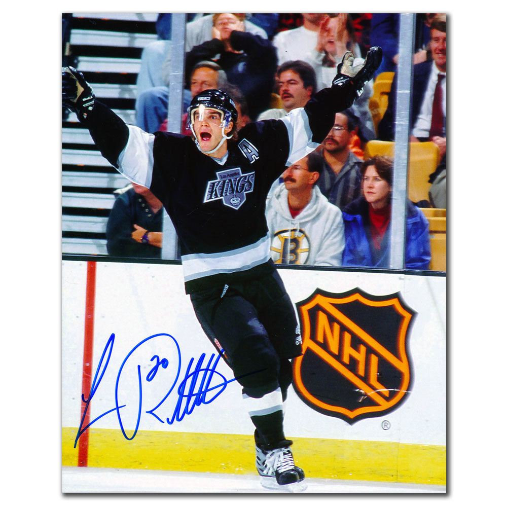 Luc Robitaille Los Angeles Kings RETRO Autographed 8x10
