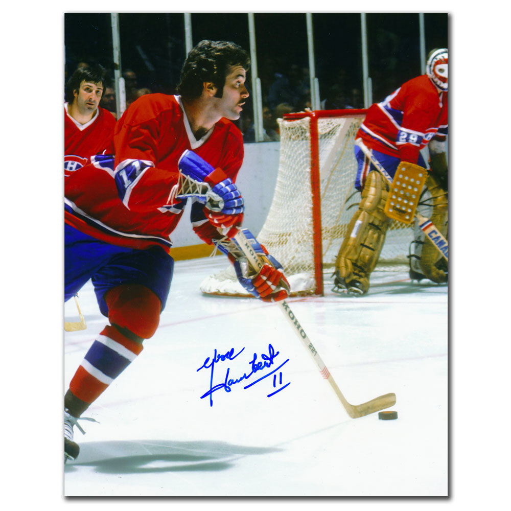 Yvon Lambert Montreal Canadiens BREAKOUT Autographed 8x10