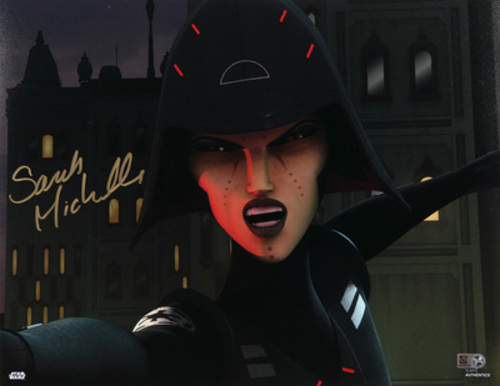 Sarah Michelle Gellar as Seventh Sister 11x14 Autographed In Gold Ink Photo