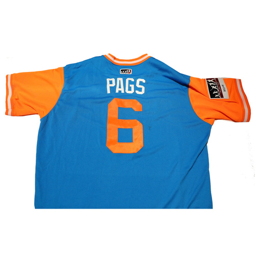 "Photo of Mike ""Pags"" Pagliarulo Miami Marlins Game-Used Players Weekend Jersey"