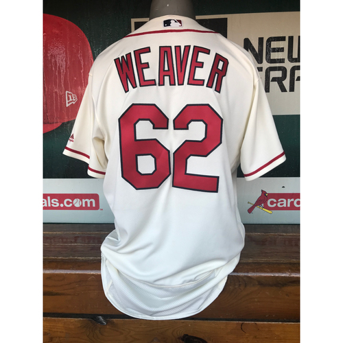 Cardinals Authentics: Luke Weaver Team-Issued Saturday Alternate Jersey