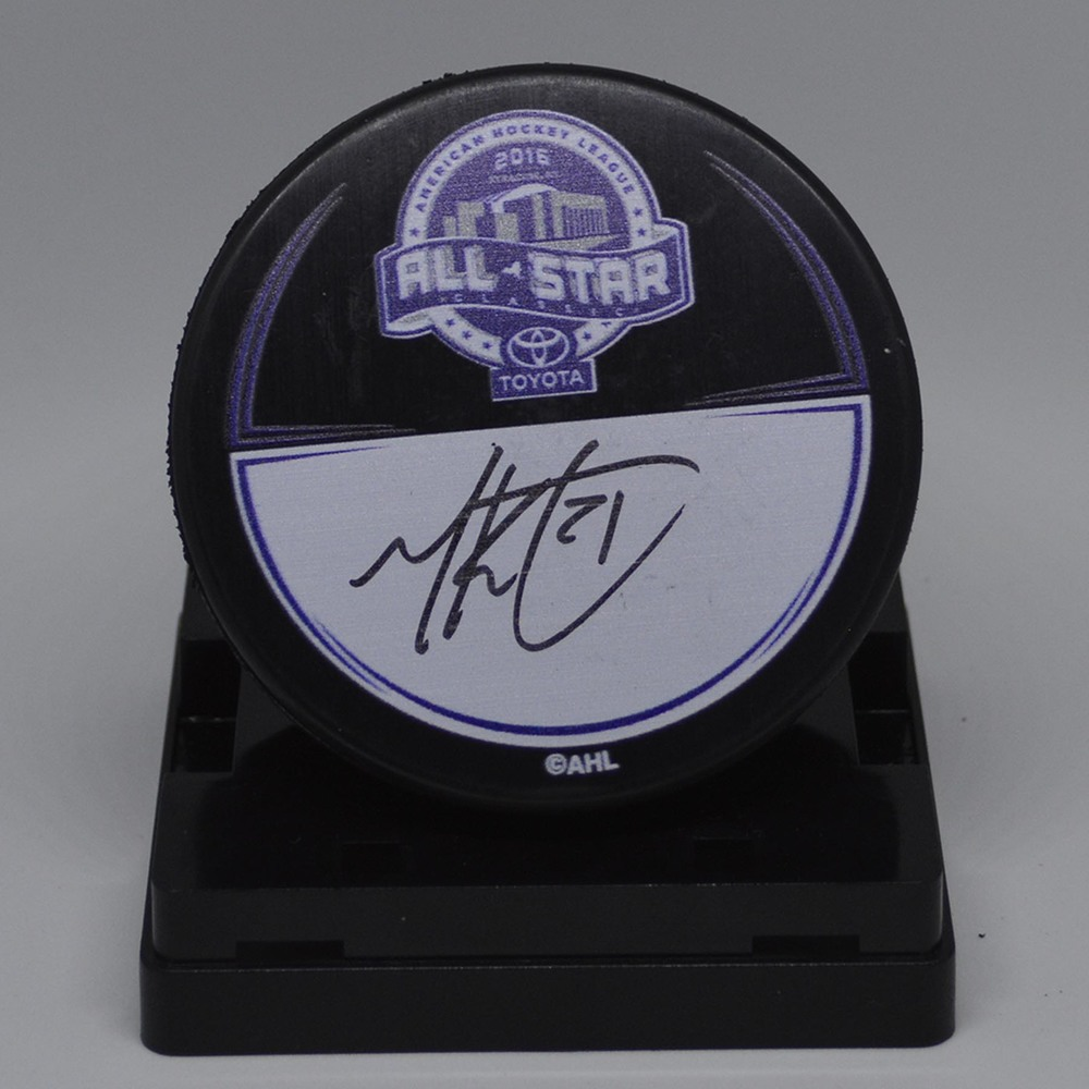 2016 Toyota AHL All-Star Classic Souvenir Puck Signed by #21 Michael Kostka