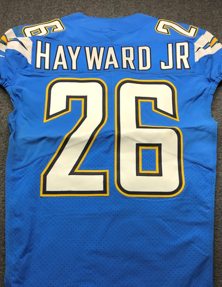 California Wildfire Relief - Chargers Casey Hayward Game worn Jersey (10/21/18)