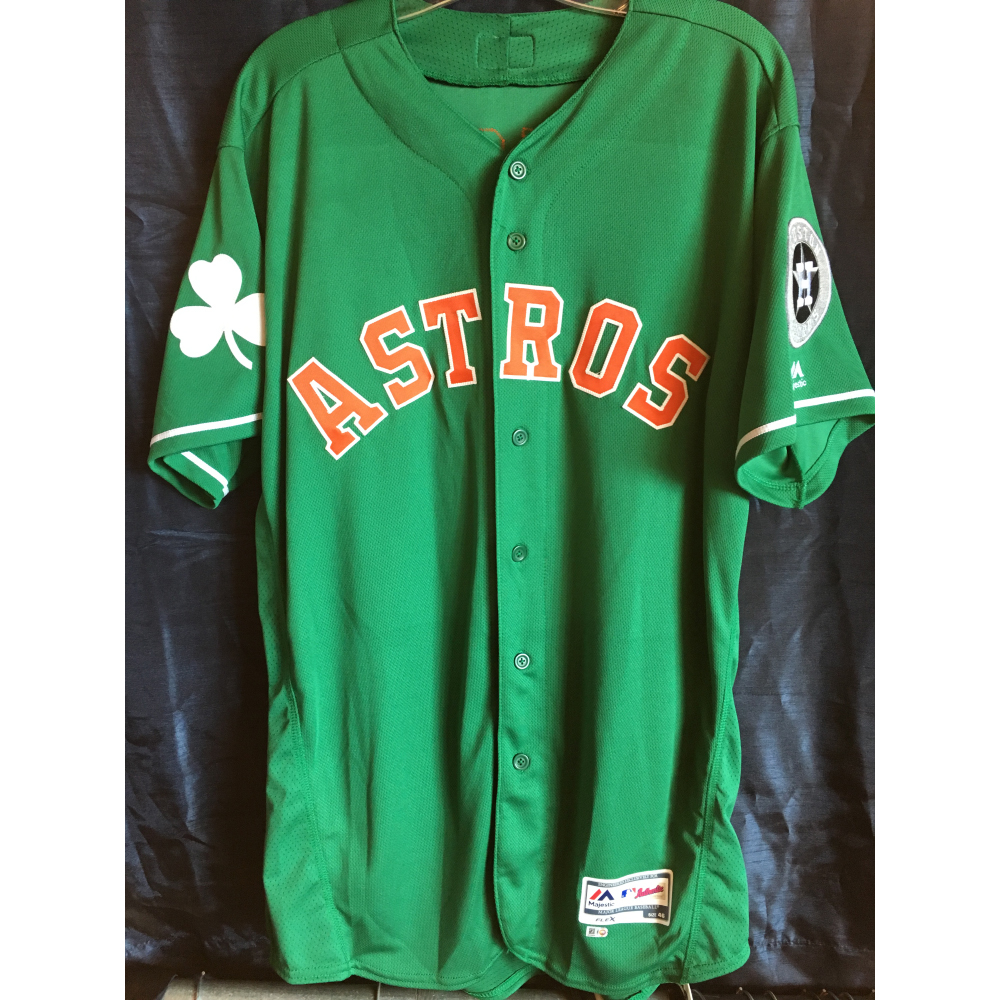innovative design 37eb2 d6a2f MLB Auctions | Jake Marisnick 2019 Game-Used St. Patrick's ...