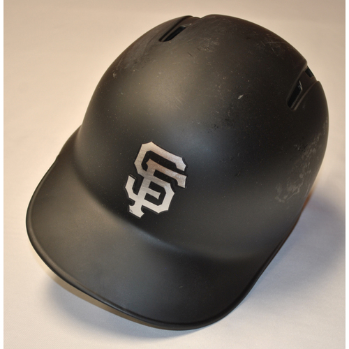 "Photo of Brandon ""Bob"" Belt San Francisco Giants Game-Used 2019 Players' Weekend Helmet"