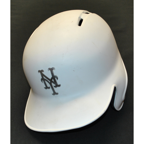 "Photo of J.D. ""DIZZLE"" Davis New York Mets Game-Used 2019 Players' Weekend Helmet"