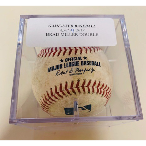 Photo of Game-Used Baseball: Brad Miller Double
