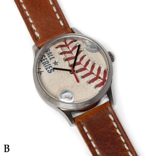 Photo of Tokens & Icons Boston Red Sox 2018 World Series Game Used Baseball Watch W/ Marks - B Game 2