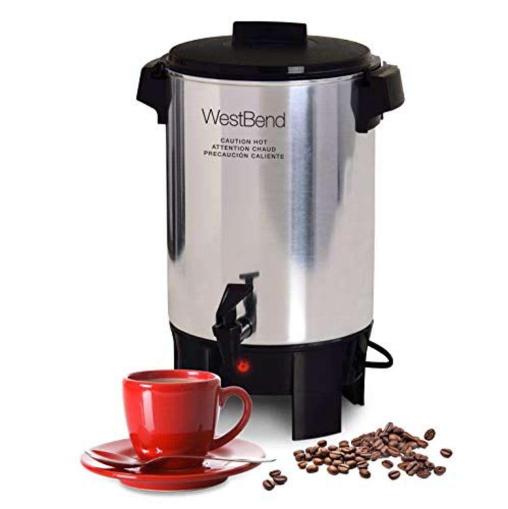 Photo of West Bend Highly Polished Aluminum Party Perk Coffee Urn