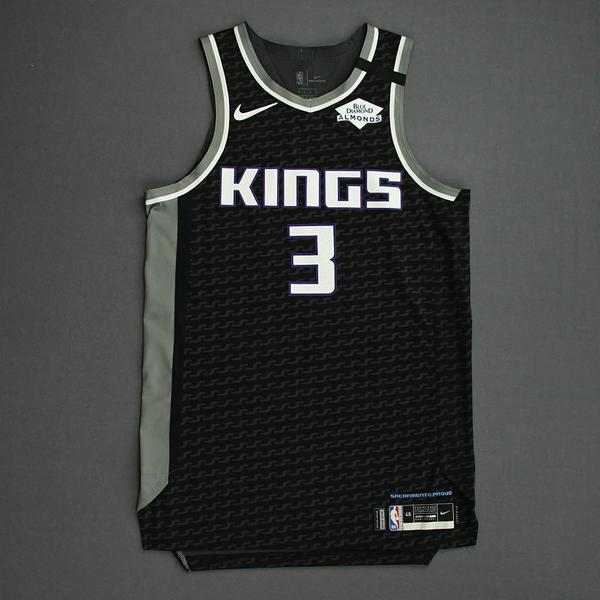 Image of Yogi Ferrell - Sacramento Kings - Game-Worn Statement Edition Jersey - 2019-20 NBA Season Restart with Social Justice Message