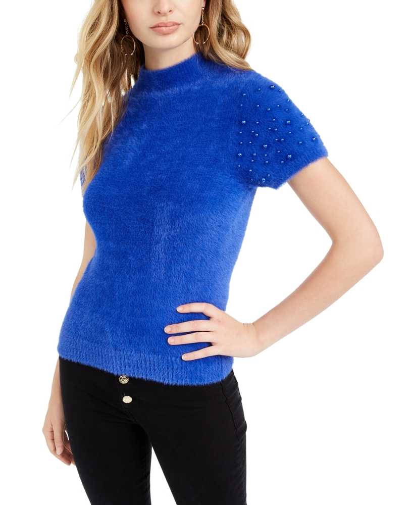 Photo of Guess Embellished Mock-Neck Sweater
