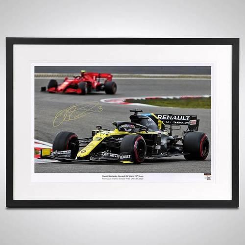 Photo of Daniel Ricciardo 2020 Framed Signed Photo - German GP