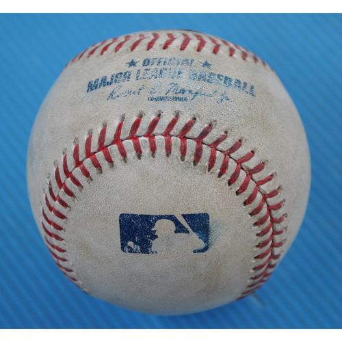 Photo of Game-Used Baseball - 2020 NLCS - Atlanta Braves vs. Los Angeles Dodgers - Game 7 - Pitcher: Blake Treinen, Batter: Ronald Acuna Jr. (Flyout to RF) - Top 5