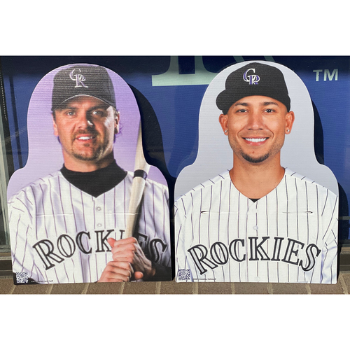 Photo of Colorado Rockies Foundation: NL Gold Glove Set - Larry Walker and Carlos Gonzalez