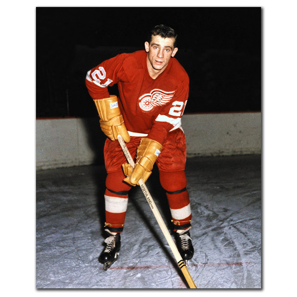 Larry Jeffrey Detroit Red Wings Autographed 8x10
