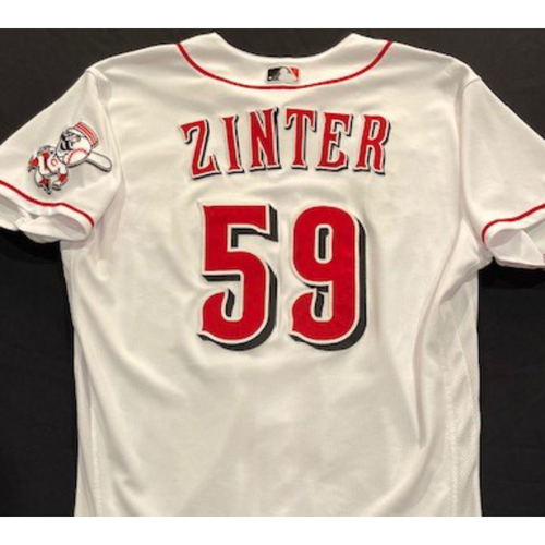 Photo of Alan Zinter -- 2020 Home White Jersey -- Team Issued -- Size 46