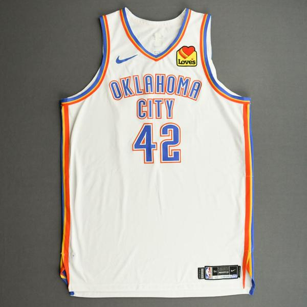 Image of Al Horford - Oklahoma City Thunder - Kia NBA Tip-Off 2020 - Game-Worn Association Edition Jersey